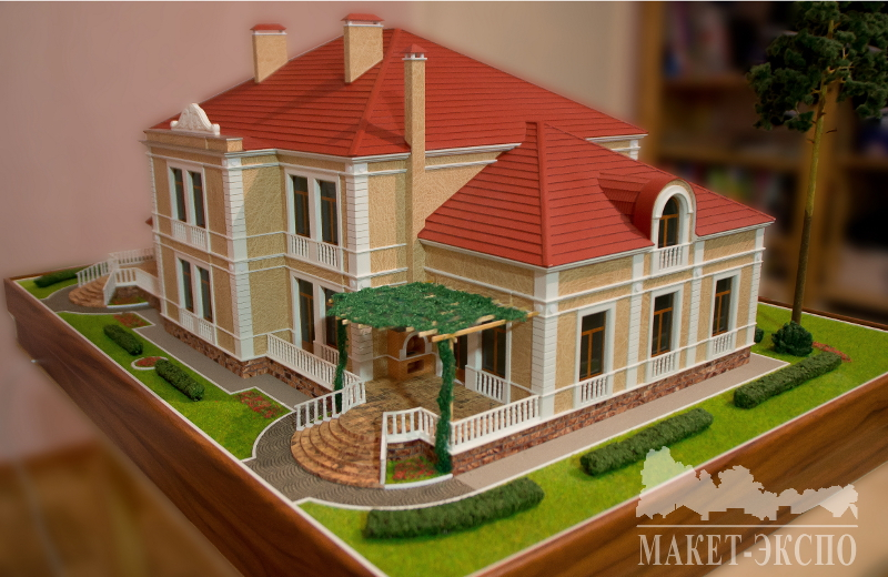 Макет загородного дома